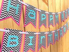 Custom Pink Lime Purple Banner, Banner, Birthday Banner, Happy Birthday Banner, Birthday Decorations, Girl Birthday, First Birthday by JaeMakes on Etsy