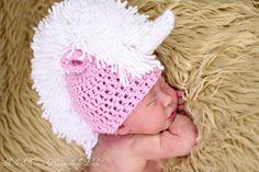 Crochet Unicorn Hat Newborn photo prop by DanasDarlingDesign, $18.00