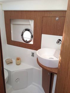 Beneteau Gran Turismo 35: The head is intended mostly for daytime use, although it does include a pull-around curtain and retractible faucet for a shower.