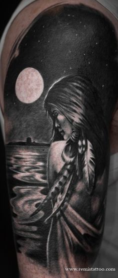 Pin Native American Girl Tattoo By Remistattoo D305rirjpg picture to pinterest. Description from tattoopins.com. I searched for this on bing.com/images