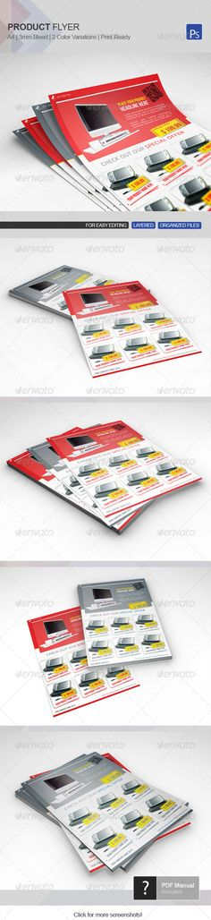 Product Flyer Template 10 — Photoshop PSD #template #selling