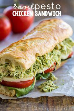 Basil Pesto Chicken Sandwich | The Recipe Critic