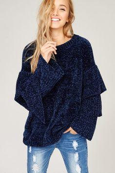 FashionGo is an online wholesale clothing marketplace where hundreds of manufacturers and wholesalers provide clothing, apparel, accessories, shoes, handbags and a variety of fashion related items. Sweaters For Women, Women's Sweaters, Knit Fashion, Casual T Shirts, Knitting Yarn, Wholesale Clothing, Knitwear, Winter Fashion, Velvet