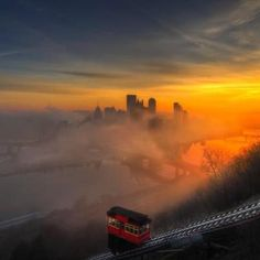 Foggy sunrise in Pittsburgh, PA. (photo by Ziaur Rahman)
