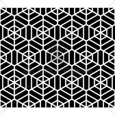 Hexagons Texture. Seamless Geometric Pattern. V...