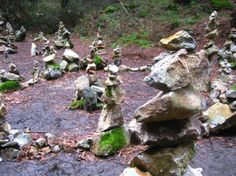 The Rock Garden is a constant work in progress.  It is located at the beginning of Pogonip right above the Lime Kiln.  #rockgarden #pogonip #hiking #sculpture #balance