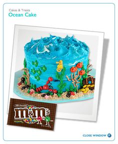 Ocean Cake Recipe! For my lady who loves everything in the ocean!!