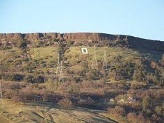 The 'O' on Table Mountain in Oroville, CA.  Oh, how I miss that view.