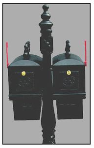 Double Curbside Mailbox with Ornamental Post Newspaper Box Cheap Mailboxes, Twins, Architecture, Decor, Arquitetura, Decoration, Decorating, Gemini