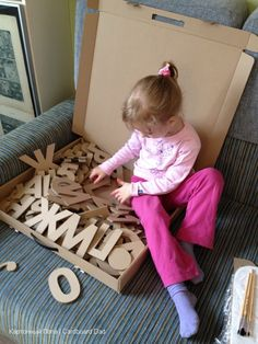 Recycle cardboard and make letters!