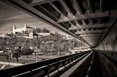 Bratislava castle is hard to miss. You will spot the castle from many points around the city.