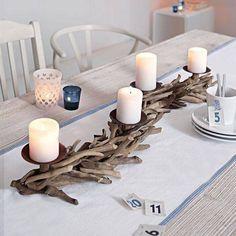 DIY Wood candle holder