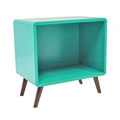 Criado-mudo/Nicho Decorativo/Mesa Lateral Quadrado com fundo Verde Esmeralda - Phorman | Lojas KD