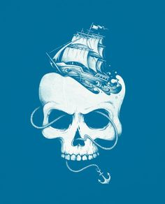 Enkel Dika, great pirate or nautical tattoo design