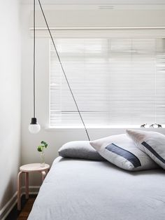 Interior designer Andrea Moore's South Yarra Apartment via The Design Files. Dream Bedroom, Home Bedroom, Bedroom Decor, Nordic Bedroom, Bedroom Ideas, Bedroom Lighting, Frosta Ikea, Plywood Furniture, Interior And Exterior