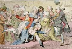 The Royal Joke, or Black Jacks Delight, by James Gillray (1757-1815). Apparently one in five of ever woman in Georgian London was a prostitute, not surprising.