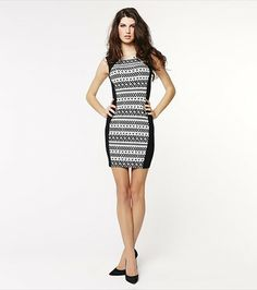 Turn heads with this gorgeous navajo print bodycon dress!