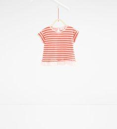 ZARA - ENFANTS - T-shirt à rayures et volant