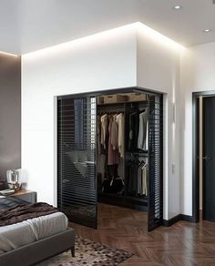 Home Room Design, Dream Home Design, Home Interior Design, Small Room Design, Home Decor Bedroom, Modern Bedroom, Modern Closet, Modern Wardrobe, Diy Room Decor