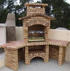 Ronny is telling you:'Grillkamin' Outdoor Kitchen Patio, Outdoor Oven, Outdoor Kitchen Design, Outdoor Cooking, Outdoor Living, Outdoor Decor, Backyard Retreat, Backyard Landscaping, Parrilla Exterior