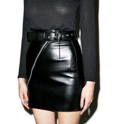Matter of Black Bad Ass Vegan Leather Skirt $129.00