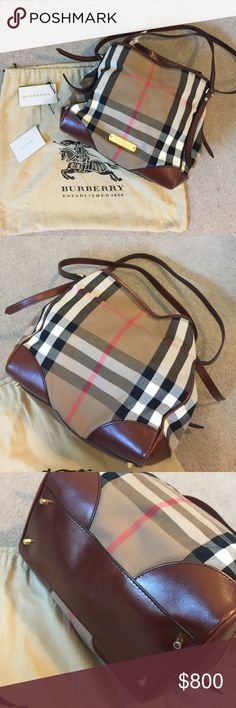 Burberry Bridle House Check Small Canterbury Tote Comes with COA,and dust bag. Snap and hook closure. Double shoulder straps. Burberry Bags Totes