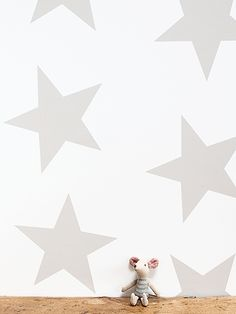 Mole Brown Twinkle Twinkle Wallpaper by Peony and Sage
