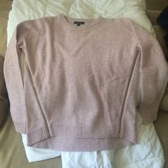 J Crew hi lo sweater Excellent condition size xs. Cute zippers on sides of front. J. Crew Sweaters Crew & Scoop Necks