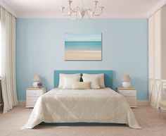 24x36 Canvas Gallery Wrap Abstract Photo Ocean Caribbean Beach Blue Teal Turquoise Beige White Soft Muted Relaxing Wall Art Home Decor. $175.00, via Etsy.