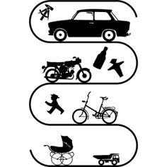Gro�e DDR Mobil Evolution - Die DDR Evolution der mobilit�t, Kinderwagen, Kipper f�r Kinder �ber das MIFA Klappfahrrad und der Simson S50 bzw. S51 bis hin zum Trabant 601. Alle Kultfahrzeuge der ehemaligen DDR.