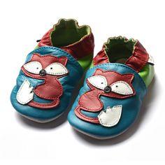 fox red   www.amsomo.de #amsomo #jinwood #lederpuschen #babyschuhe #kita #fuchs #fox #soft sole