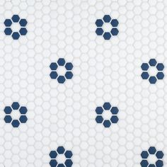 Inspired by newsrooms from the early century, The Press uses a hexagon shape to create designs and patterns found in the architecture and design of this time. Stone Mosaic Tile, Mosaic Tiles, Cement Tiles, Wall Tiles, Mosaics, Mosaic Bathroom, Bathroom Colors, Tile House Numbers, Shower Floor Tile