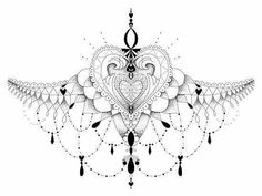 Sternum tattoo for women