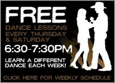 Free dance lessons every Thursday night