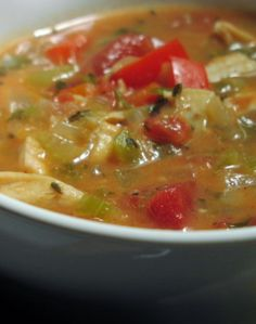 Weight Watchers 0 Point Tortilla Soup | This soup is really good, and I'm not one for soups that don't have meat in them