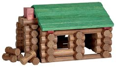 lincoln logs, I remember playing with these although they were my brother's and I played with them in his room.