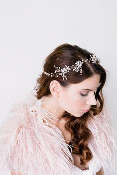 LOVE FIND CO. Sophie Gold Crystal Bridal Headpiece by Bride La Boheme