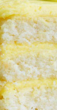 Every bite of this Lemon Layer Cake with Lemon Curd and Lemon Buttercream bursts with lemon flavor. A wonderfully moist lemon cake is layered with velvety smooth lemon curd and frosted with fresh lemon buttercream. Cake Frosting Recipe, Cake Icing, Frosting Recipes, Cupcake Cakes, Eat Cake, Cupcakes, Lemon Curd Cake, Lemon Curd Filling, Lemon Buttercream