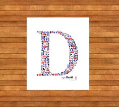 London Letter Picture A3  Memories Nursery by WordPerfectPictures