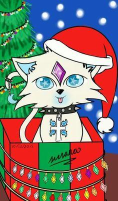 ChristmasDraw Cat - SusanArts oficial Facebook