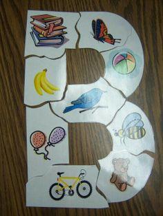Begeleide of zelfstandige activiteit - Objects with the letter B