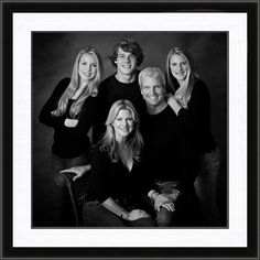 Schedule a studio black and white portrait session between April and May and receive our classic black framing (complete with matting) free with each or larger signature series portra. Family Photo Studio, Studio Family Portraits, Family Portrait Poses, Family Picture Poses, Family Picture Outfits, Portrait Ideas, Adult Family Poses, Family Posing, Studio Posen