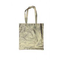 GOLD METALLIC TOTE Metallic, Reusable Tote Bags, Gold, Yellow