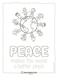 Informations About Peace Day Coloring Pages, Posters & Note Paper - US Letter Pin You can easily use Bible Lessons, Art Lessons, Remembrance Day Activities, King Craft, Harmony Day, Kindness Projects, Earth Day Activities, Cute Coloring Pages, Working With Children