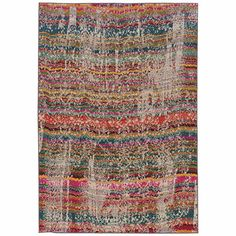 image of Oriental Weavers Kaleidescope Contemporary Rug in Multicolor Cool Vintage, Transitional Rugs, Indoor Rugs, Muted Colors, Throw Rugs, Throw Pillows, Woven Rug, Rug Making, Abstract Pattern