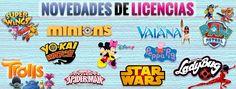 Las licencias infantiles más buscadas star wars ladybug spiderman yokay trolls patrulla canina