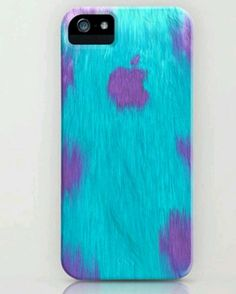 Furry monster!  #monstersco #monstersinc #monster #fur #furry #blue #velvet #soft #classy #case #phone #etui #iphone