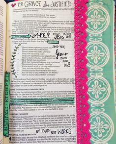By the grace of God, I am justified, and redeemed.  He freely gives is we will receive!  #Biblejournaling