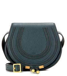 Marcie Small dark green leather shoulder bag