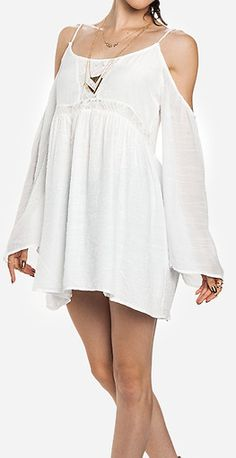 Gauzy off shoulder dress - cute as a coverup